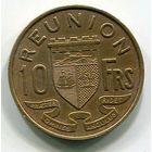 РЕЮНЬОН - 10 ФРАНКОВ 1955