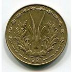 ЗАПАДНАЯ АФРИКА - 5 ФРАНКОВ 1981
