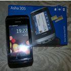 Nokia Asha 305 в упаковке, полный комплект