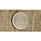 Малайя и Британское Борнео 5 центов 1961 ///(ON)