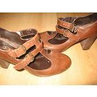 Модные туфли кожаные итальянские 38