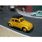 Модель автомобиля Volkswagen Beetle Deutsche Post 1 (brekina). Масштаб НО-1:87.