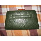 Женская сумочка 1950 года (зелёная кожа) с кошелёчком