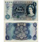 Великобритания. 5 фунтов (образца 1966-70 года, P375b)