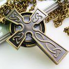 Часы-крест на цепочке. бронзовый стиль. распродажа