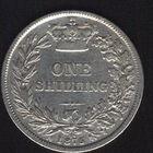 Великобритания. 1 шиллинг 1875 г. Серебро. XF.