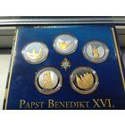 Набор монет Папа Римский 5 шт (серебро с позолотой),  Обмен возм