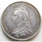 15 Британия 6 пенсов 1887 год, серебро.