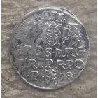3 гроша Трояк 1598 цена снижена