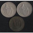 СССР 10 копеек 1932,1933,1936 г. В неплохом состоянии! Цена за 1 шт.