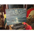 Пейзаж Смотритель Маяка. Холст дублированный на двп. 40х50