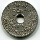 ТУНИС - 25 САНТИМ 1919