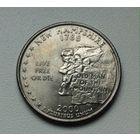 25 центов США 2000 г New hapshire