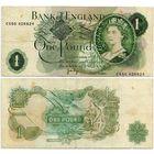 Великобритания. 1 фунт (образца 1970-77 года, P374g, Page)