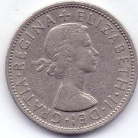 Великобритания, 2 шиллинга 1967 года.