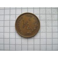 Родезия 1/2 цента 1970г.