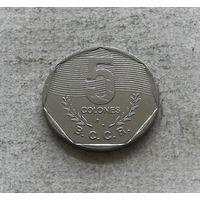 Коста-Рика 5 колонов 1989