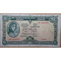 Ирландия 1 фунт 1959г. Pic 56d