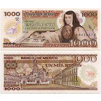Мексика. 1000 песо (образца 1985 года, P85, подпись 4, UNC)