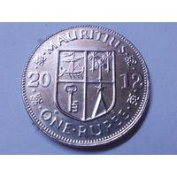 Маврикий 1 рупия 2012 г.
