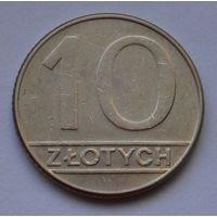 Польша 10 злотых, 1989 г.