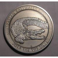 Австралия 1 Доллар 2014 Крокодил Серебро (2)