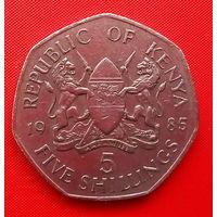 58-02 Кения, 5 шиллингов 1985 г.