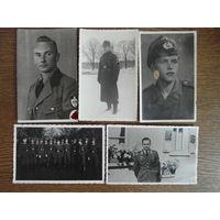 Отличная подборка портретных фото открыточного формата по 3 рейху, Германия 1933-1945, RAD, Люфтваффе, вермахт, 5 шт. одним лотом!