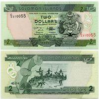 Соломоновы острова. 2 доллара (образца 1997 года, P18, UNC)