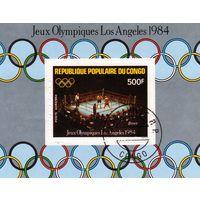 Конго. Спорт.Бокс.Олимпийские игры Лос-Анжелес .1988 г. Блок