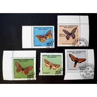 Мадагаскар 1984 г. Бабочки. Фауна, полная серия из 5 марок #0052-Ф1P11
