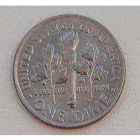 """1 дайм (10 центов) 2004 """"D""""_БЛЕСТИТ_aUNC"""