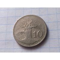 Зимбабве 10 центов, 1980