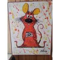 """Картина """" Красная мышь"""""""