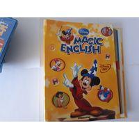 """Первые 17 выпусков """"Magic English"""" (диски, журналы в папке и словарь с наклейками первых 17 выпусков). 20 руб. за все."""