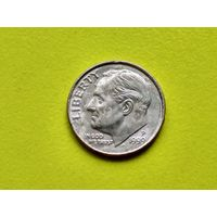 США. 10 центов (1 дайм) 1999 P (Roosevelt Dime).