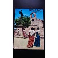 Почтовая карточка  подписанная (LES BAUX).  распродажа