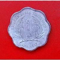 30-21 Восточные Карибы, 1 цент 1989 г. Единственное предложение монеты данного года на АУ