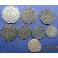 Лот польских монет .
