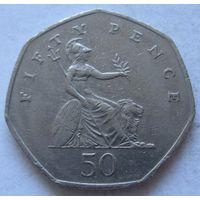 Великобритания 50 пенсов 1997 медно-никель, 27.3 мм