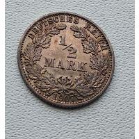 "Германия 1/2 марки, 1907 ""A"" - Берлин 7-10-20"