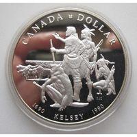 Канада. 1 доллар 1990. Серебро. Пруф