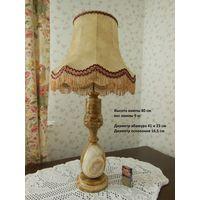 Лампа настольная, светильник. Оникс. Европа 70-е годы.