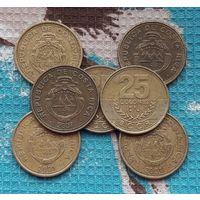 Коста-Рика 25 колон. Инвестируй выгодно в монеты планеты!