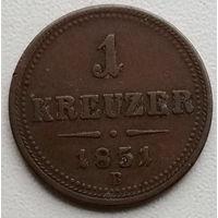Австрия 1 крейцер 1851 2