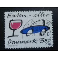Дания 1990 автомобиль и рюмка