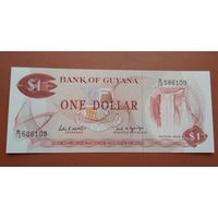Банкнота 1 доллар Гайана 1966 г.