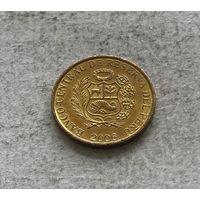 Перу 1 сентимо 2006 в блеске