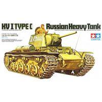 Советский тяжелый танк КВ-1, с одной фигурой танкиста, сборная модель 1/35 TAMIYA 35066