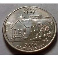 25 центов, квотер США, штат Айова, P D